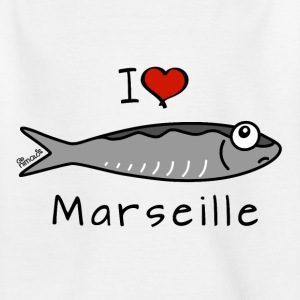Tee shirt Enfant Sardine - I Love Marseille - T-shirt Enfant