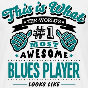 blues player world no1 most awesome - Men's T-Shirt