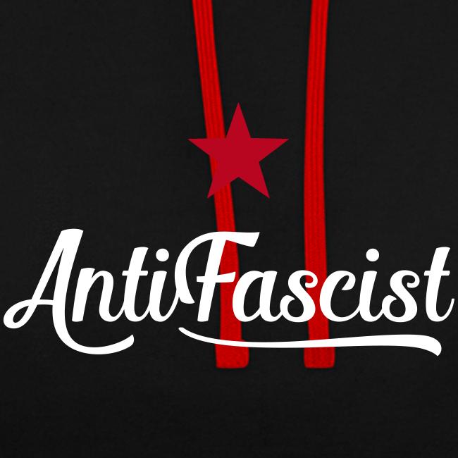 AntiFascist Kontrast-Hoodie