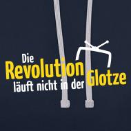 Motiv ~ Die Revolution läuft nicht in der Glotze Kontrast-Hoodie