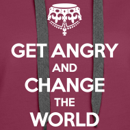Motiv ~ Get angry and change the world Hoodie Frauen