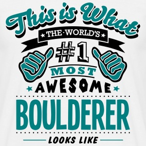 boulderer world no1 most awesome - Men's T-Shirt