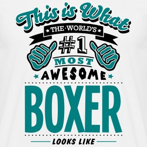 boxer world no1 most awesome - Men's T-Shirt