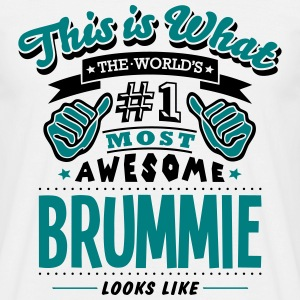 brummie world no1 most awesome - Men's T-Shirt