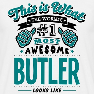 butler world no1 most awesome - Men's T-Shirt