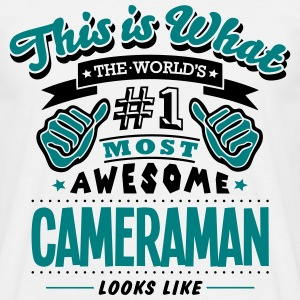 cameraman world no1 most awesome - Men's T-Shirt