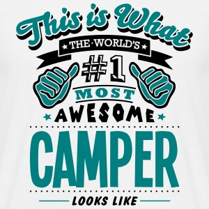 camper world no1 most awesome - Men's T-Shirt