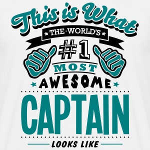 captain world no1 most awesome - Men's T-Shirt
