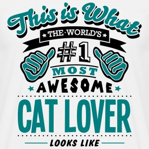 cat lover world no1 most awesome - Men's T-Shirt