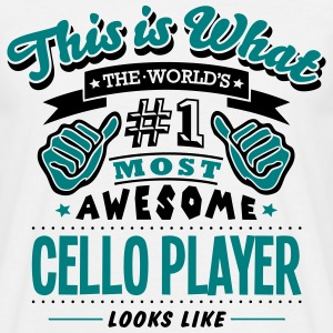 cello player world no1 most awesome - Men's T-Shirt