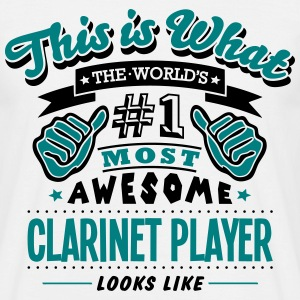 clarinet player world no1 most awesome c - Men's T-Shirt
