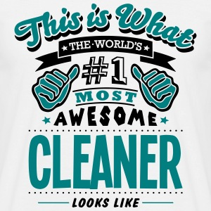 cleaner world no1 most awesome - Men's T-Shirt
