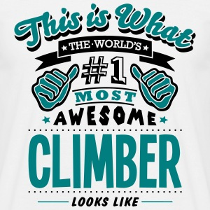 climber world no1 most awesome - Men's T-Shirt