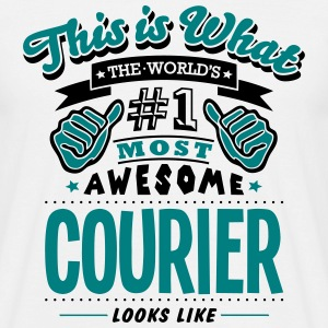 courier world no1 most awesome - Men's T-Shirt