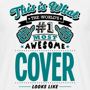 cover world no1 most awesome - Men's T-Shirt