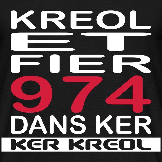 Tee shirt homme Kreol et Fier 974