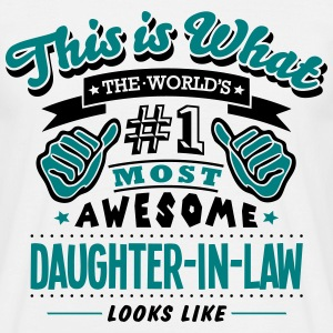 daughterinlaw world no1 most awesome cop - Men's T-Shirt