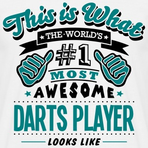 darts player world no1 most awesome - Men's T-Shirt