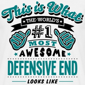 defensive end world no1 most awesome cop - Men's T-Shirt