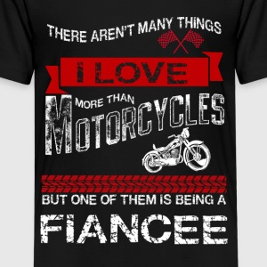 This Fiance Loves Motorcycles Shirts - Teenage Premium T-Shirt