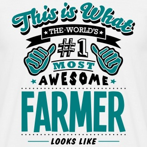 farmer world no1 most awesome - Men's T-Shirt