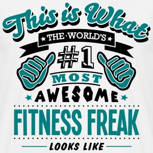 fitness freak world no1 most awesome cop - Men's T-Shirt