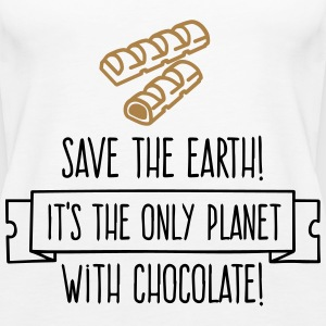 Save the Earth. It has Chocolate! (2015) Tops - Women's Premium Tank Top