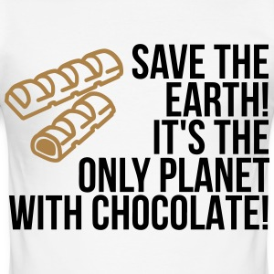 Save the Earth. It has Chocolate! (2015) T-Shirts - Men's Slim Fit T-Shirt