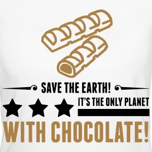 Save the Earth. It has Chocolate! (2015) T-Shirts - Women's Organic T-shirt