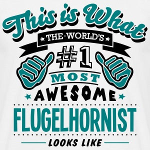 flugelhornist world no1 most awesome cop - Men's T-Shirt