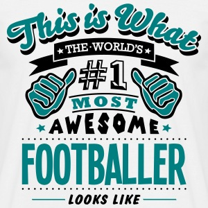 footballer world no1 most awesome - Men's T-Shirt
