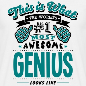genius world no1 most awesome - Men's T-Shirt