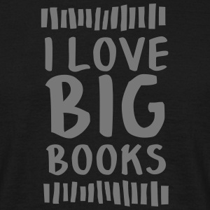 I Love Big Books T-shirts - Herre-T-shirt