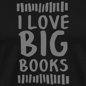 I Love Big Books T-shirts - Herre premium T-shirt