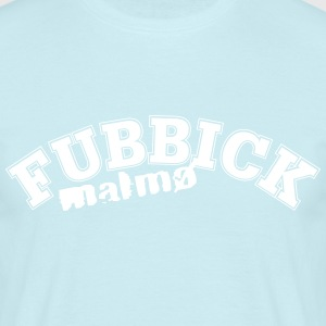 fubbick (male) white on blue - T-shirt herr