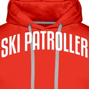 ski patroller stylish arched text logo c premium h - Men's Premium Hoodie
