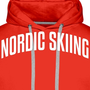 nordic skiing stylish arched text logo c premium h - Men's Premium Hoodie