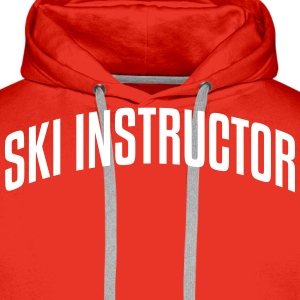 ski instructor stylish arched text logo  premium h - Men's Premium Hoodie