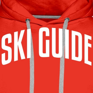ski guide stylish arched text logo premium hoodie - Men's Premium Hoodie