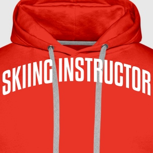 skiing instructor stylish arched text lo premium h - Men's Premium Hoodie