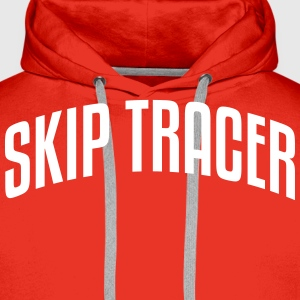 skip tracer stylish arched text logo cop premium h - Men's Premium Hoodie