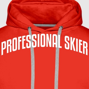 professional skier stylish arched text l premium h - Men's Premium Hoodie