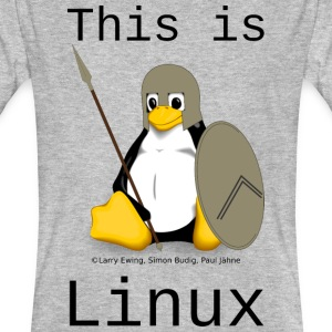 This is Linux - Männer Bio-T-Shirt