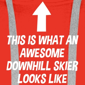 awesome_freestyle_skier_looks_like_arrow premium h - Men's Premium Hoodie