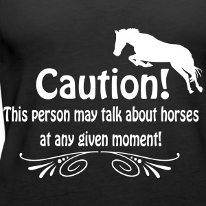 Funny horse quote Tops - Women's Premium Tank Top