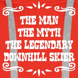 freestyle skier the man myth legendary l premium h - Men's Premium Hoodie