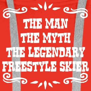 heliskier the man myth legendary legend premium ho - Men's Premium Hoodie