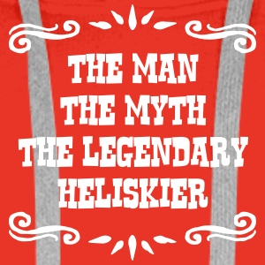 jet skier the man myth legendary legend premium ho - Men's Premium Hoodie