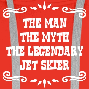 jetskier the man myth legendary legend premium hoo - Men's Premium Hoodie