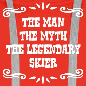 skiing instructor the man myth legendary premium h - Men's Premium Hoodie